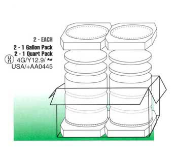 paint can shipping carton multi pack